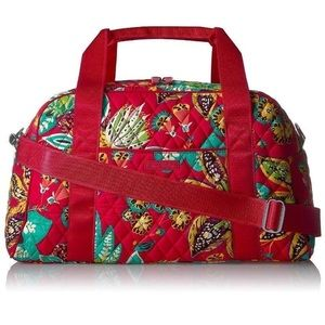 Vera Bradley NWT Compact Sports Bag - Rumba -  Red